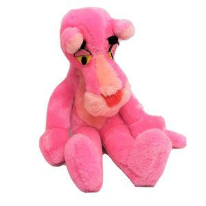 Vintage Mighty Star Pink Panther Plush 16″ Cartoon